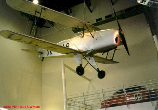1934-39 Aircraft Tatra 131, 190km h, Engine T-100, 72 kW Tatra factory museum Kopřivnice