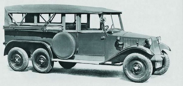 1934 Tatra-72, 6x6 Staff car