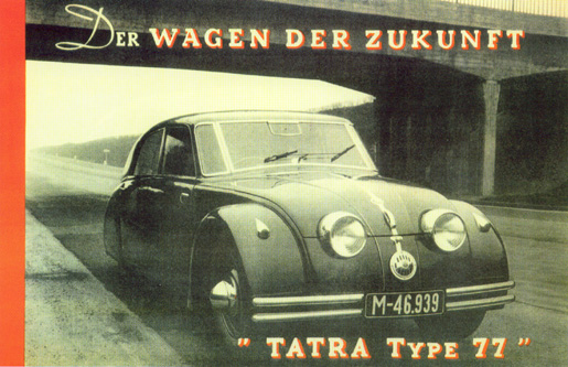 1934 Tatra 77, the car of the future Contemporary advertisement