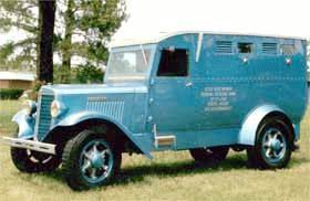 1935 International late 6cyl armoured by John C Dix Companyfor Federal Reserve Bank built in MemphisTN WNL