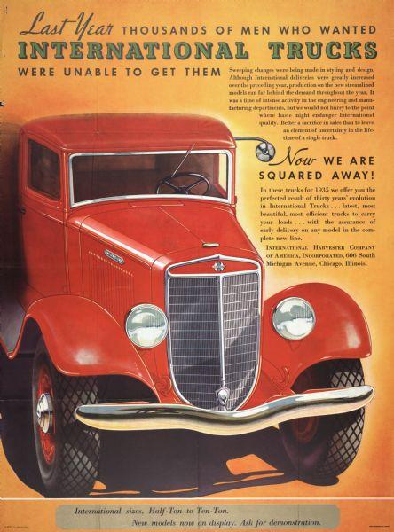 1935 International Truck Advertising Poster