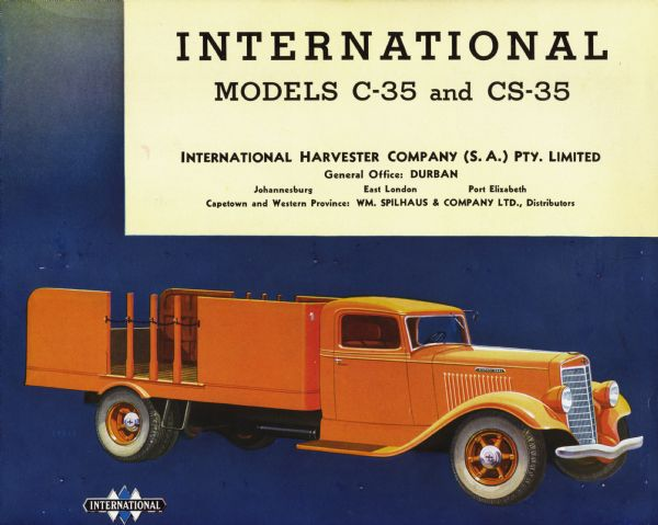 1935 South African International C-35-CS-35 Truck Brochure