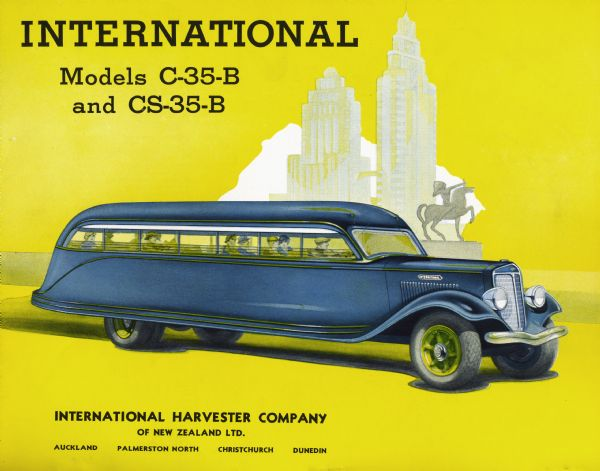 1936 International C-35 B and CS-35-B Bus Flyer