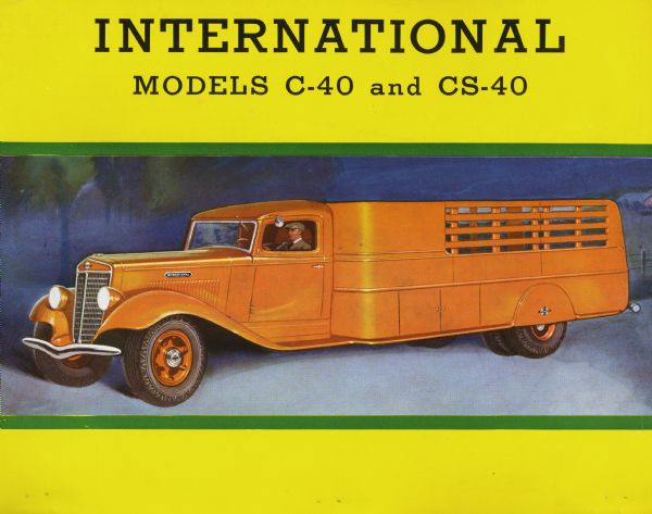 1936 International C-40 and CS-40 Ad Flyer