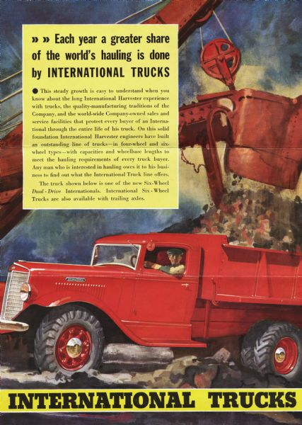1936 International Trucks Ad Proof