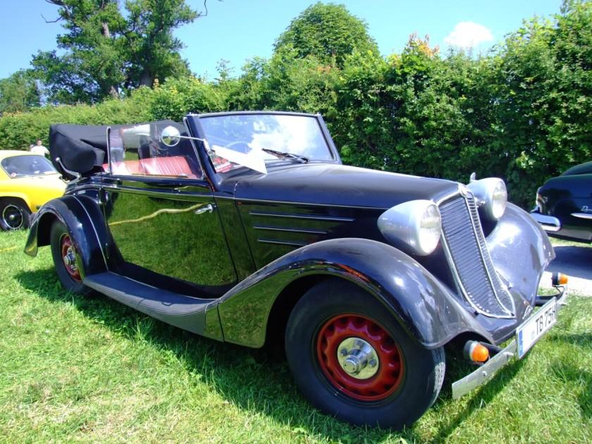 1936 Tatra 75 Cabrio 4 Zylinder - Boxer-Motor 1688 ccm 30 PS 3500 Umin.