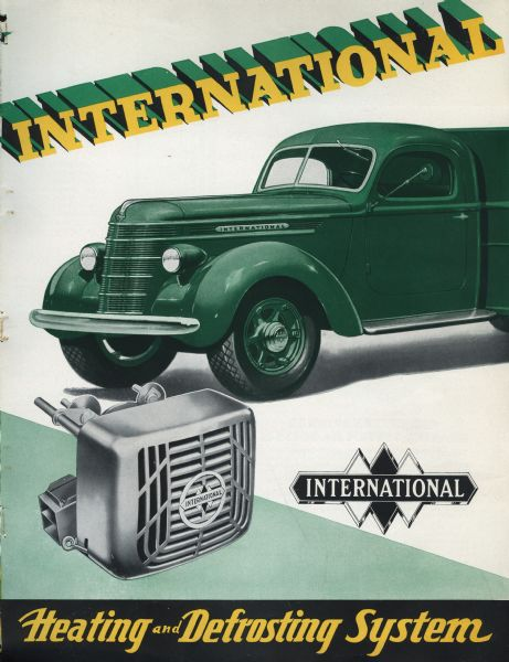 1937 brochure for heating and defrosting systems used in International trucks