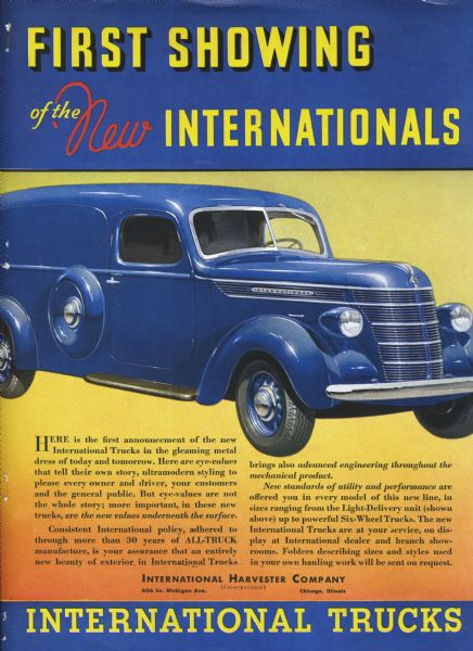 1937 International Truck Ad Proof