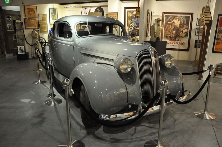 1937 Plymouth Coupe gebruikt door Humphrey Bogart in de film High Sierra