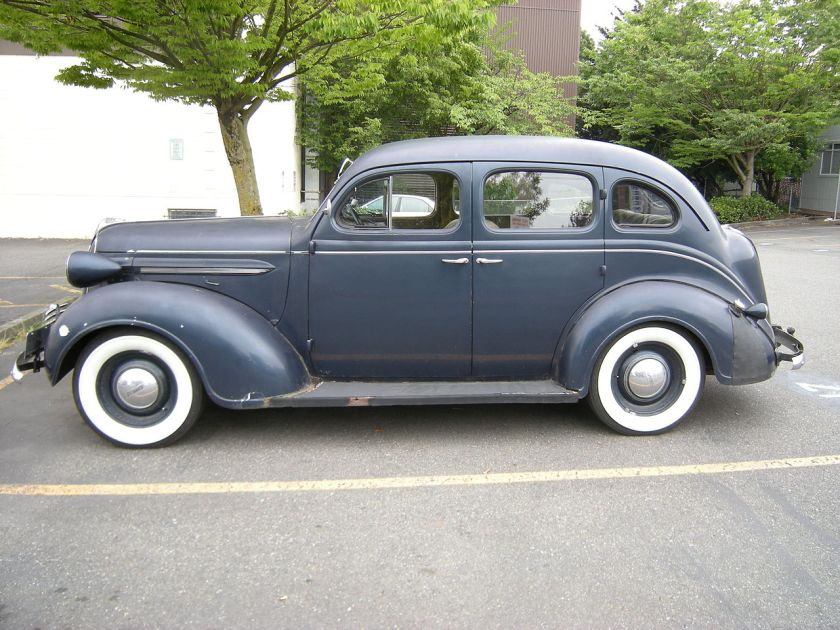 1937 Plymouth photographed in Seattle, Washington