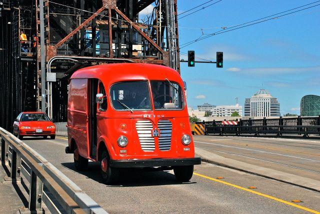 1938-1975 Preserved International Harvester Metro Van in Portland in 2012