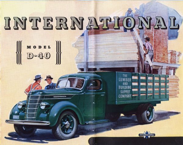 1938 International D-40 Truck Brochure
