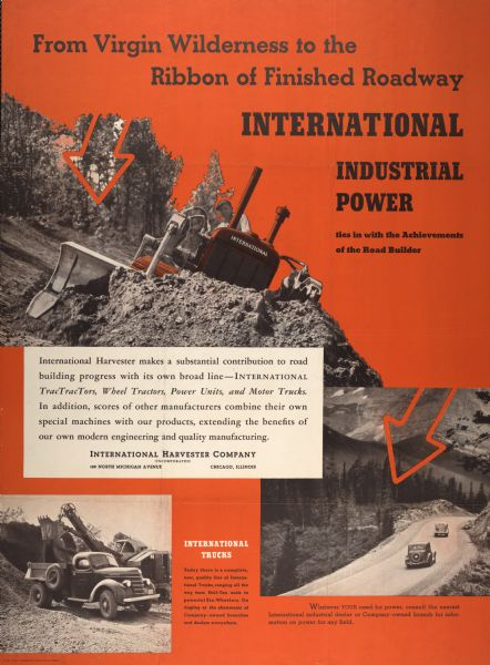 1938 International Industrial Power Advertising Poster