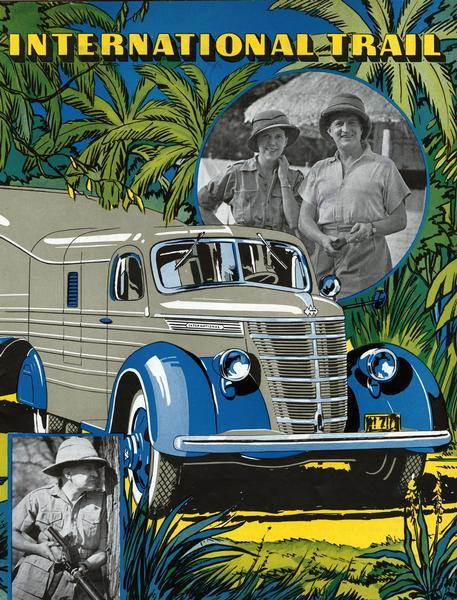 1938 International Trail Magazine Cover of Gatti Expedition