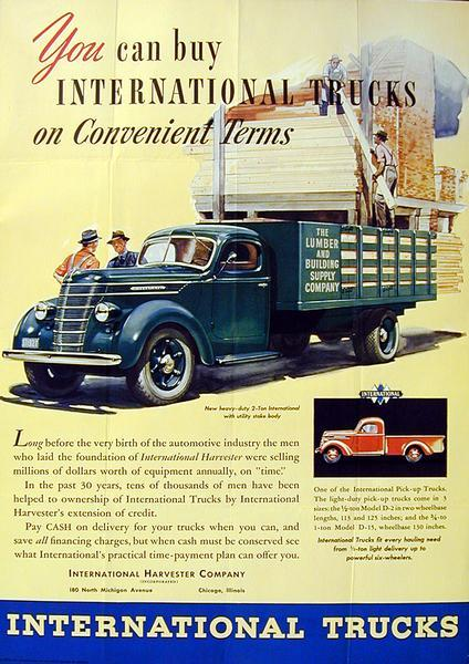 1938 International Truck Advertising Poster a