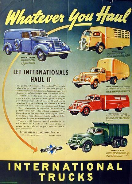 1938 International Truck Advertising Poster