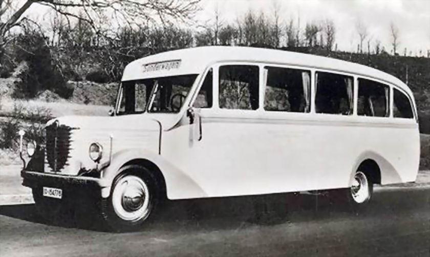 1939 Büssing omnibus Baydekarte
