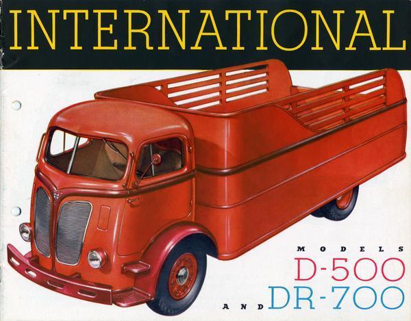 1939 International Models D-500 and DR-700 Trucks