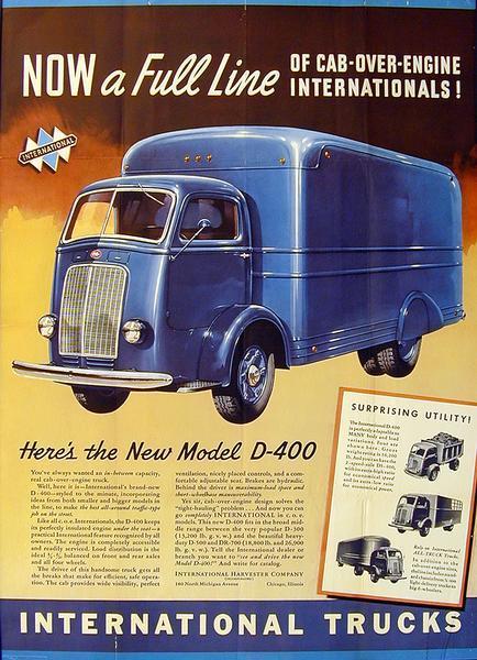 1940 International D-400 Truck Advertising Poster
