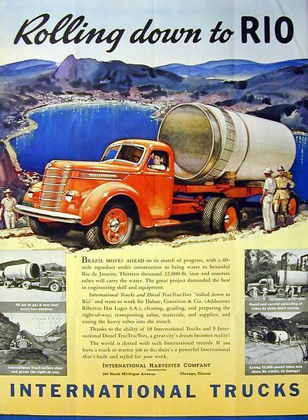 1940 International D-Line Truck Advertising Poster