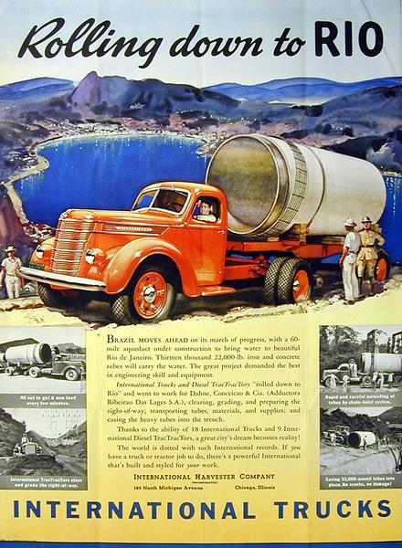 1940 International D-Line Truck Advertising Poster
