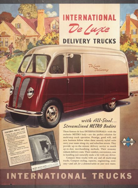 1940 International De Luxe Delivery Truck Advertising Poster
