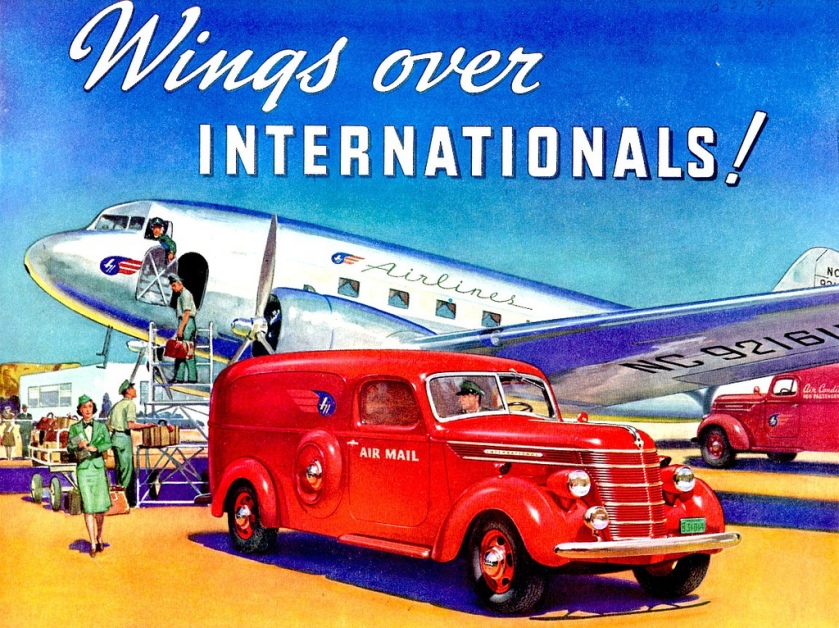 1940 International Panel Truck At Airport