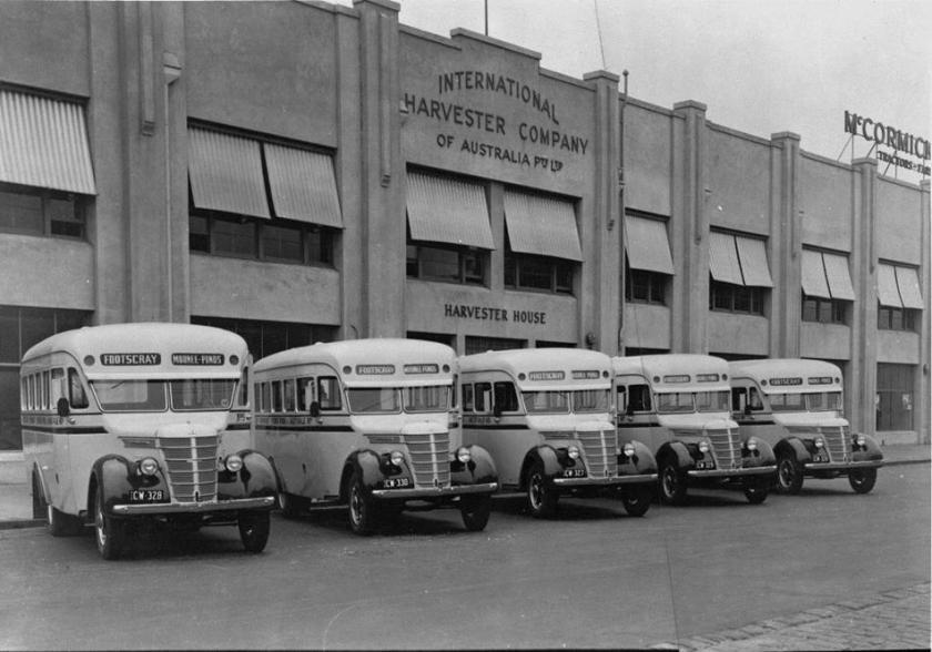 1941 International Harvester, D30 Motor Buses, City Road, South Melbourne