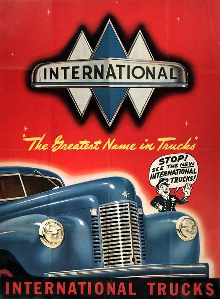 1941 International K-Line Truck Advertising Poster