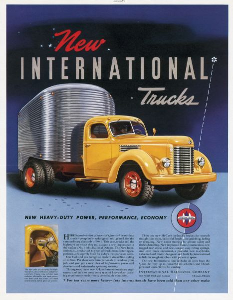 1941 International K-Line Truck Advertising Proof