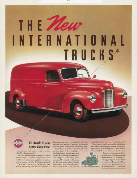 1941 International Truck Advertising Proof a