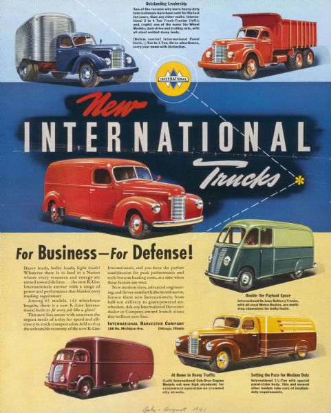 1941 International Truck Advertising Proof ad