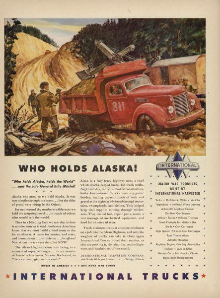 1943 International Trucks Alaska Highway Ad