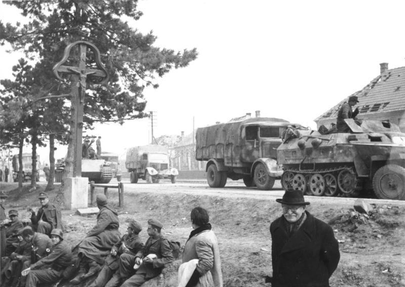 Ungarn, Richtung Plattensee, etwa 15.-20. März 1945