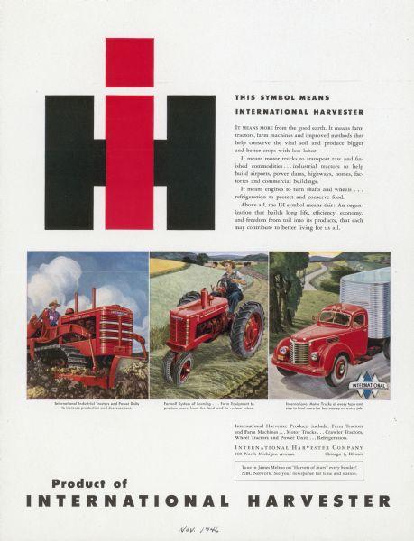 1946 International Product Advertising Proof