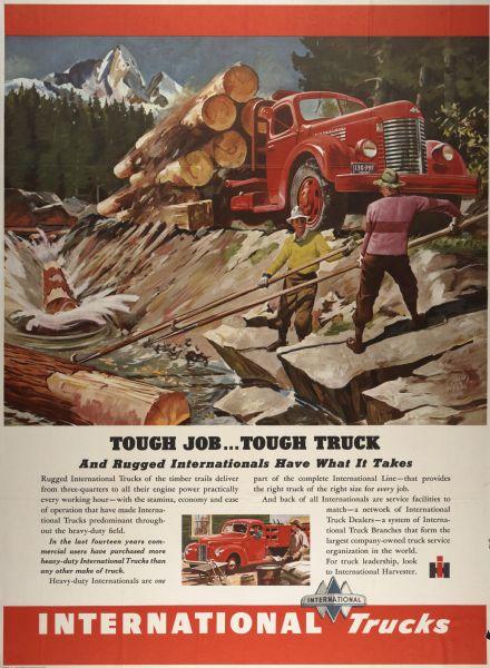 1946 International Truck Advertising Poster a