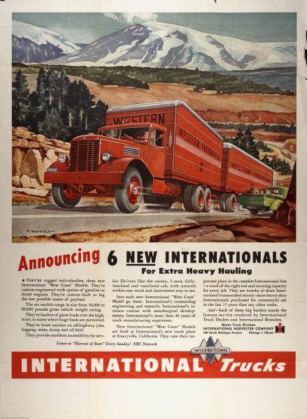 1946 International Truck Advertising Poster