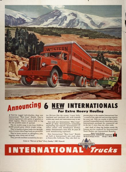 1946 International Truck Advertising Poster