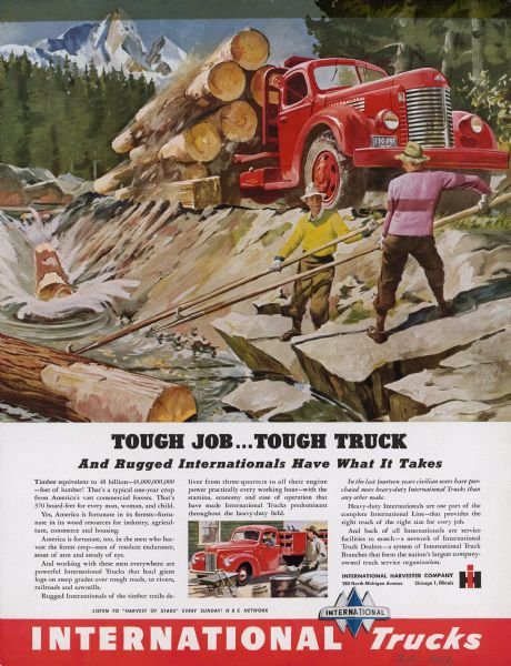 1946 International Truck Advertising Proof Logging