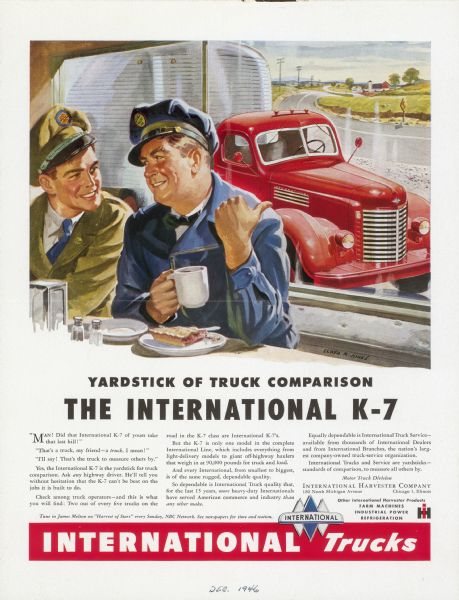 1946 International Truck Advertising Proof