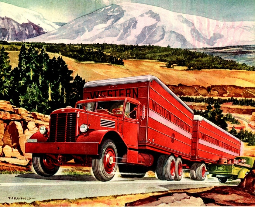 1946 International West Coast Model Truck