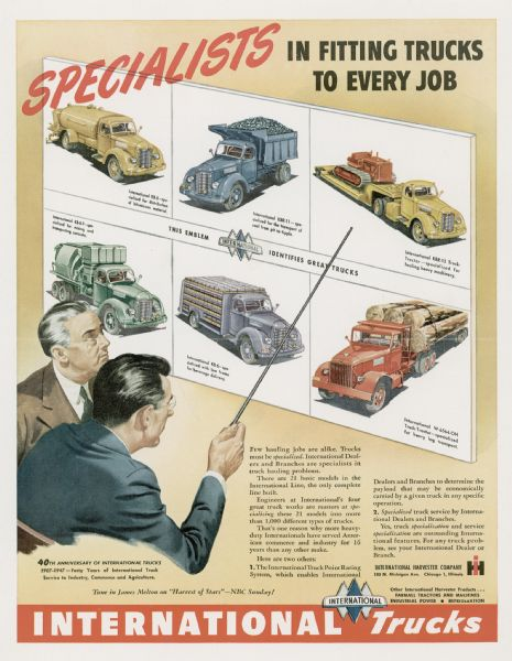 1947 International KB and KBR Truck Advertising Proof