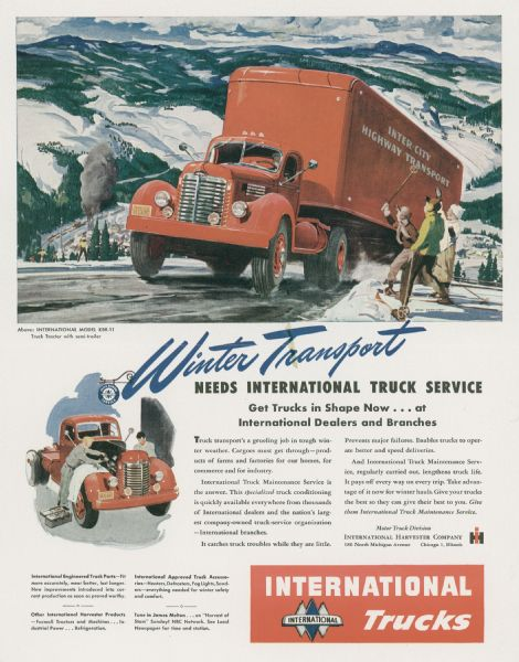 1947 International KBR-11 Truck Advertising Proof
