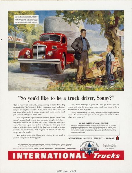 1947 International Truck Advertising Proof a