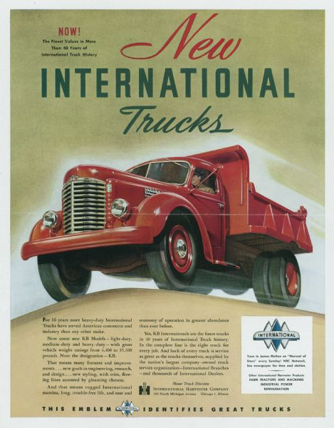 1947 International Truck Advertising Proof b