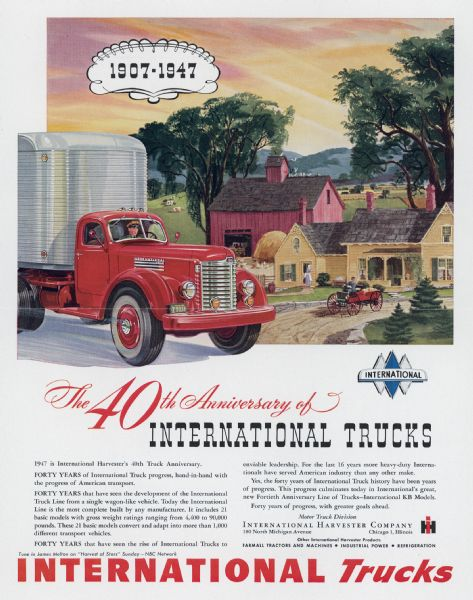 1947 International Truck Advertising Proof