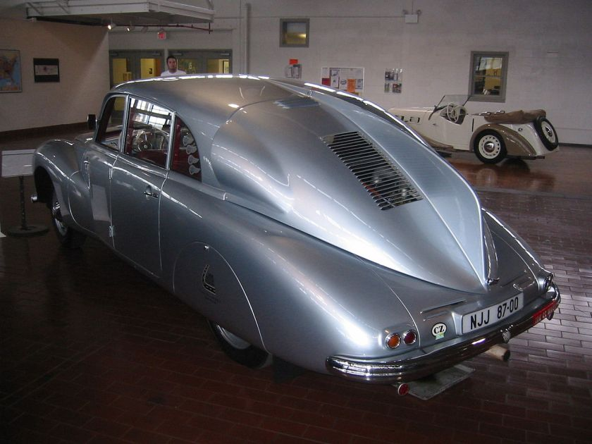 1947 Tatra 87 Saloon, showing the identifiable rear 'Sharks-fin' and lack of rear windows