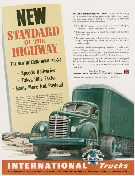 1948 International KB-8-1 Truck Advertising Proof