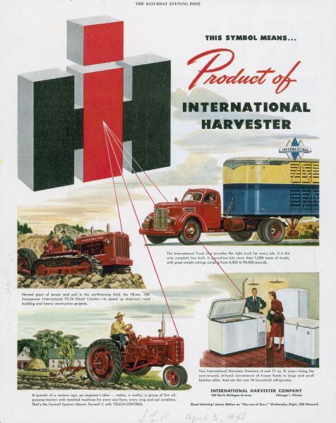 1948 International Products Advertising Proof