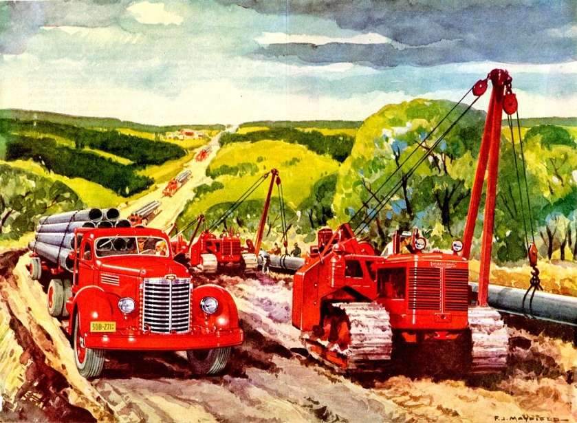 1948 International Tractor-Trailer & Diesel Crawler Tractor